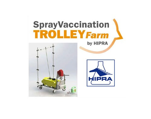 SPRAY VACCINATION TROLLEY FARM